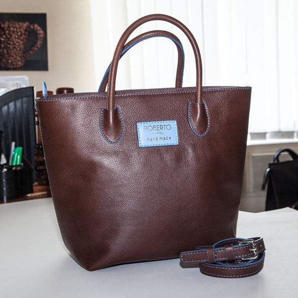 Женская сумка A.Roberto Napoli Exclusive Brown - Blue