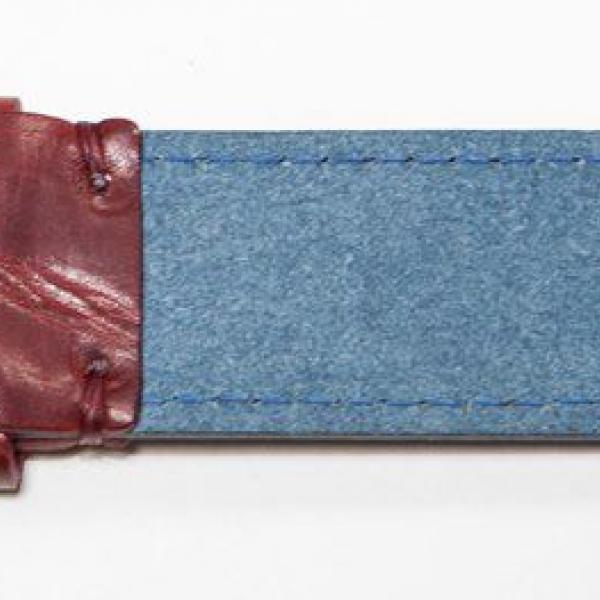 Мужской ремень A.Roberto Napoli Exclusive Blue-Red Marble