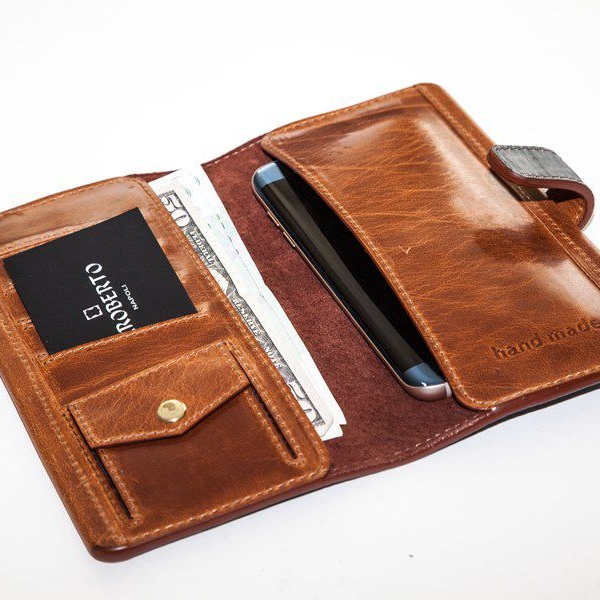 Мужской кошелек A.Roberto Napoli Exclusive Blue-Brown Wallet
