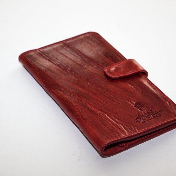 Мужской кошелек A.Roberto Napoli Exclusive Dark-Red Wallet