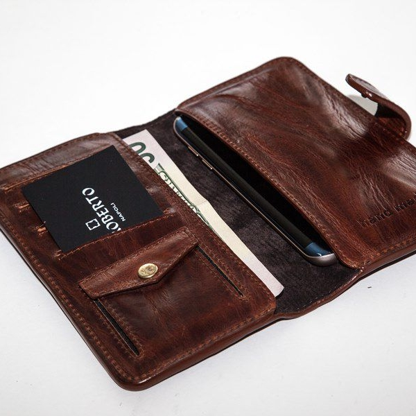 Мужской кошелек A.Roberto Napoli Exclusive Dark-Brown Wallet