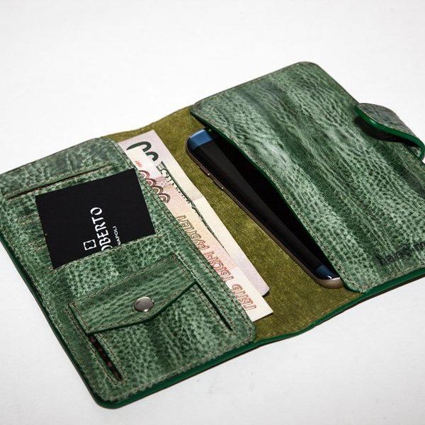 Мужской кошелек A.Roberto Napoli Exclusive Green Wallet