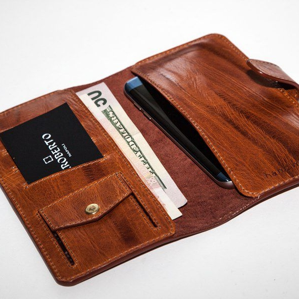 Мужской кошелек A.Roberto Napoli Exclusive Cracked-Brown Wallet