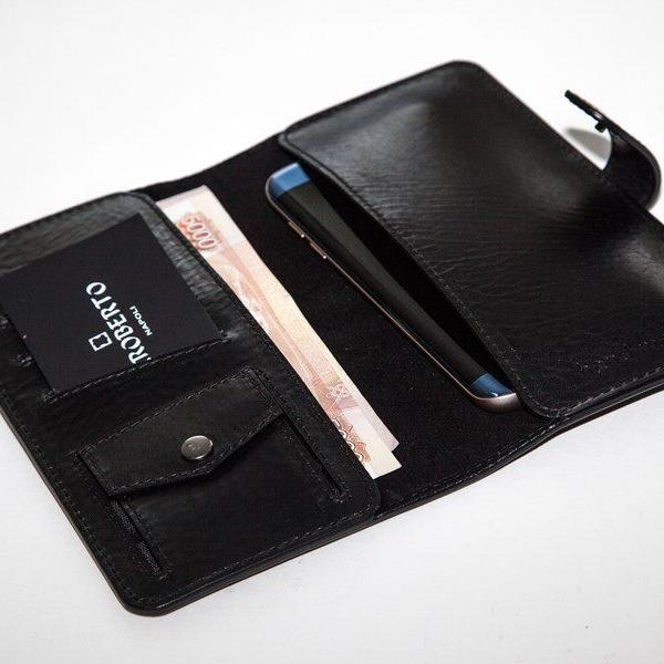 Мужской кошелек A.Roberto Napoli Exclusive Black Wallet