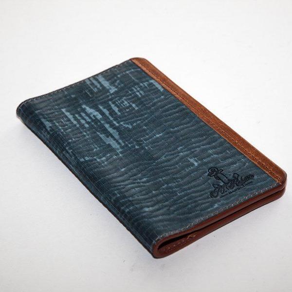Мужской кошелек A.Roberto Napoli Exclusive Blue-Brown Magnet Wallet