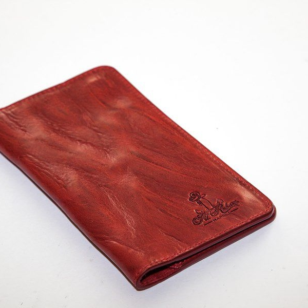 Мужской кошелек A.Roberto Napoli Exclusive Red Magnet Wallet