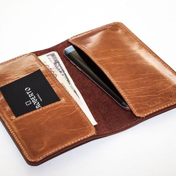 Мужской кошелек A.Roberto Napoli Exclusive Brown Roots Magnet Wallet