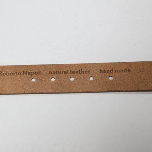 Мужской ремень A.Roberto Napoli Exclusive Brown Puzzle Pimples
