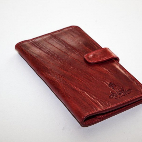 Мужской кошелек A.Roberto Napoli Exclusive Dark-Red Wallet