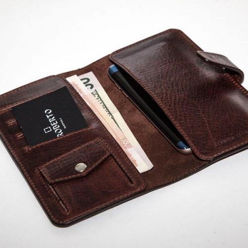 Мужской кошелек A.Roberto Napoli Exclusive Deep-Brown Wallet