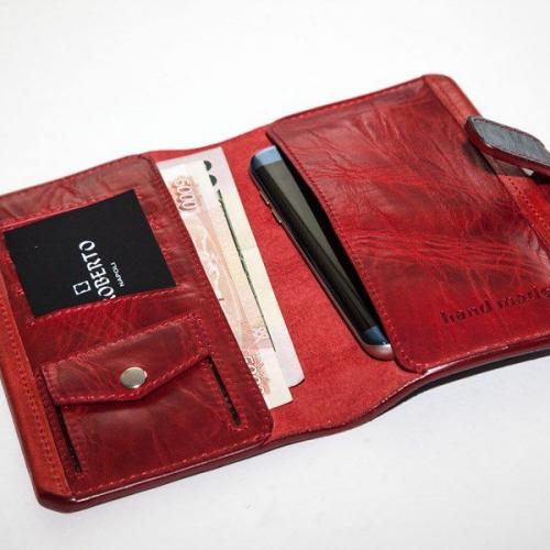 Мужской кошелек A.Roberto Napoli Exclusive Blue-Red Wallet