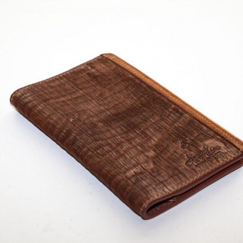 Мужской кошелек A.Roberto Napoli Exclusive Brown Cut Magnet Wallet