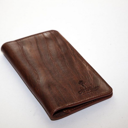 Мужской кошелек A.Roberto Napoli Exclusive Dark-Brown Bark Magnet Wallet