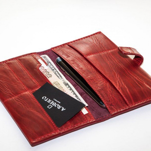 Мужской кошелек A.Roberto Napoli Exclusive Red Wallet